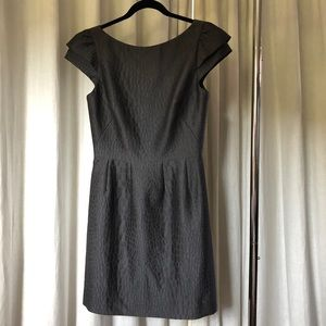 Halston Heritage Gray Cap Sleeve Dress